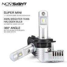 1:1 дизайн NOVSIGHT H7 Led H4 автомобильные лампы для передних фар H11 H16JP 9005 9006 9012 P13 PSX24W PSX26W 50 Вт 10000LM 6500 к авто фары