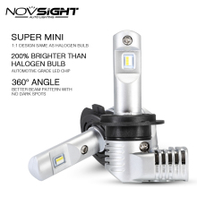 1:1 DESIGN NOVSIGHT H7 Led H4 Car Headlight Bulbs H11 H16JP 9005 9006 9012 D1S P13 PSX24W PSX26W 50W 10000LM 6500K Auto Headlamp