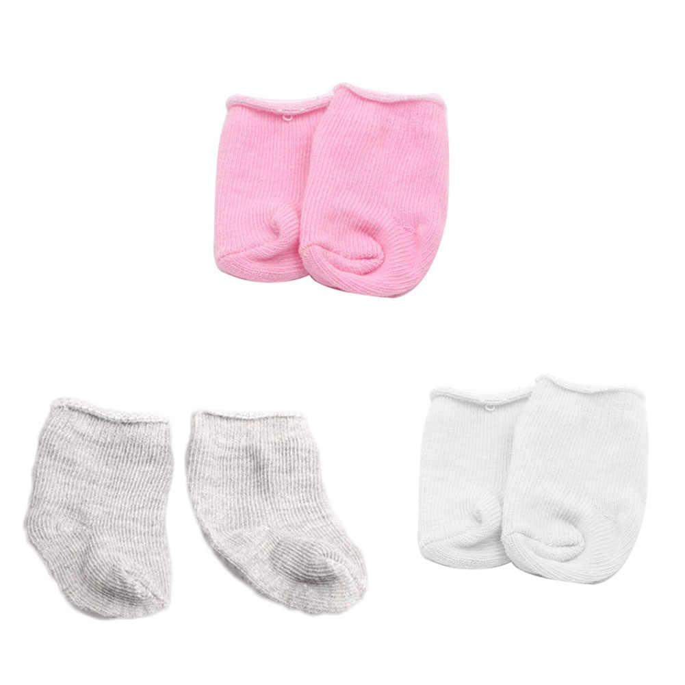18 นิ้วตุ๊กตาถุงเท้า 1 คู่เหมาะกับตุ๊กตาสาวเสื้อผ้าสีชมพูถุงเท้าเด็กตุ๊กตา