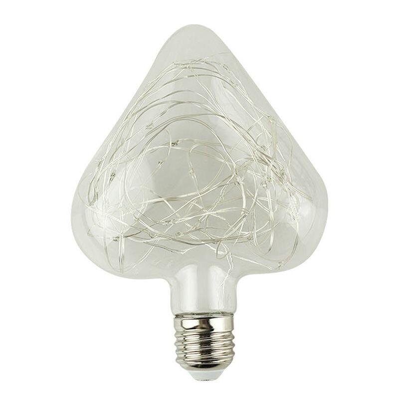 Edison Birne Fhrte Lampe Beleuchtung Herz Rgb Glhbirnen E27 85 265 V Lichterketten Besondere