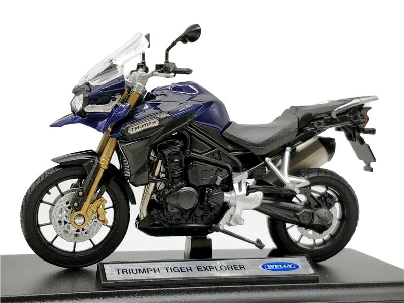 Welly 1:18 Triumph Tiger Explorer Diecast MotorcycleWelly 1:18 Triumph Tiger Explorer Diecast Motorcycle