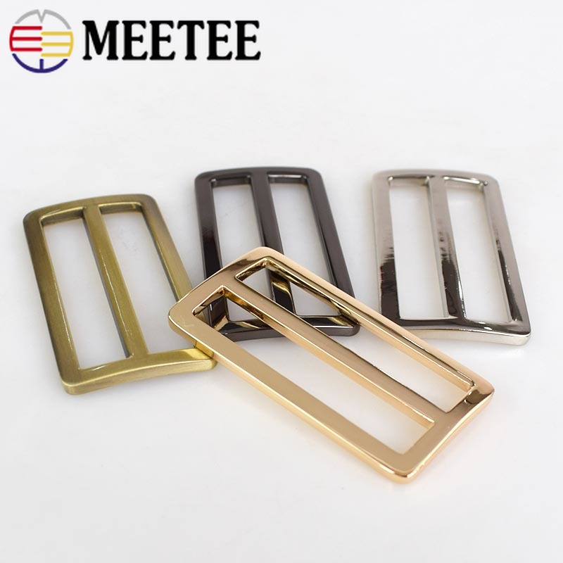 Home & Garden Bronze 38mm Metal Curved Tri-glide Adjusted Belt Webbing Buckles For Bags Strap D Ring Square Loop Diy Sewing Accessories