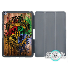 Harry Potter Hogwarts On Wood Smart Cover Case For Apple iPad Mini 1 2 3 4 Air Pro 9.7(China (Mainland))