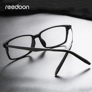 Image 4 - Reedoon Optical Eye Glasses Frame Ultralight Square Prescription Eyeglasses Plastic Titanium TR90 Frame Clear Lens For Men Women