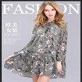 Women dress 2017 Women Clothing New Fashion Vintage Bow Neck Dresses Casual Elegant Ukraine Party dress Plus Size 2xl