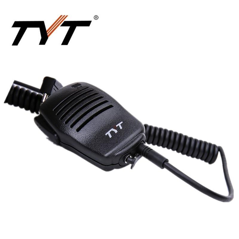 bilder für Original tyt hochwertige ptt lautsprecher mic für tytera walkie talkie lautsprecher mikrofon dm-uvf10 md-380 md-390 baofeng uv-5r uv82