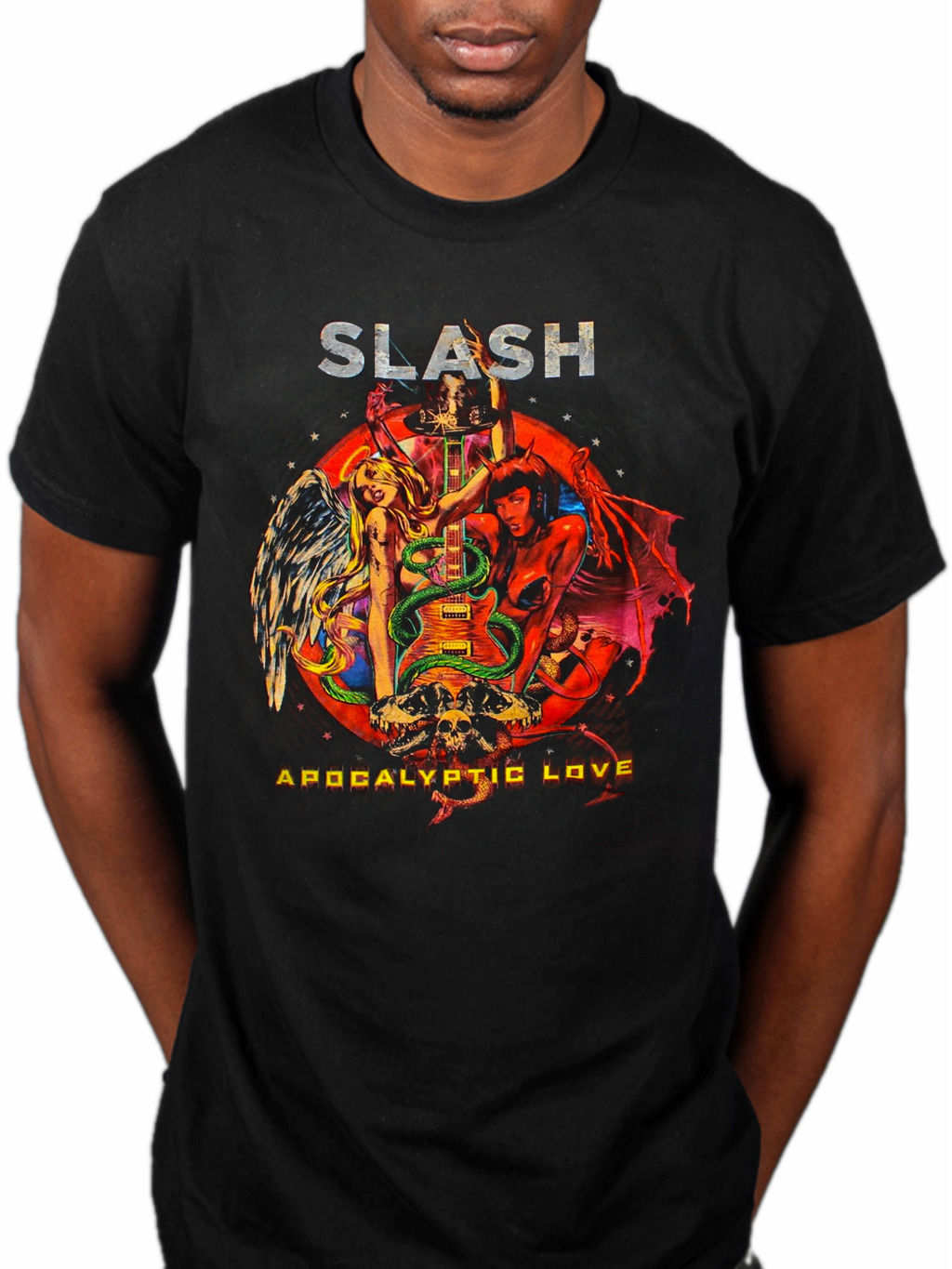 Slash Apocalyptic Love T-Shirt World On Fire Made In Stoke R Amp FNR