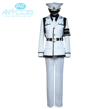 Aoharu x Machinegun Nagamasa Midori Uniform Coat Pants Shirt Anime Halloween Cosplay Costume For Men Custom Made