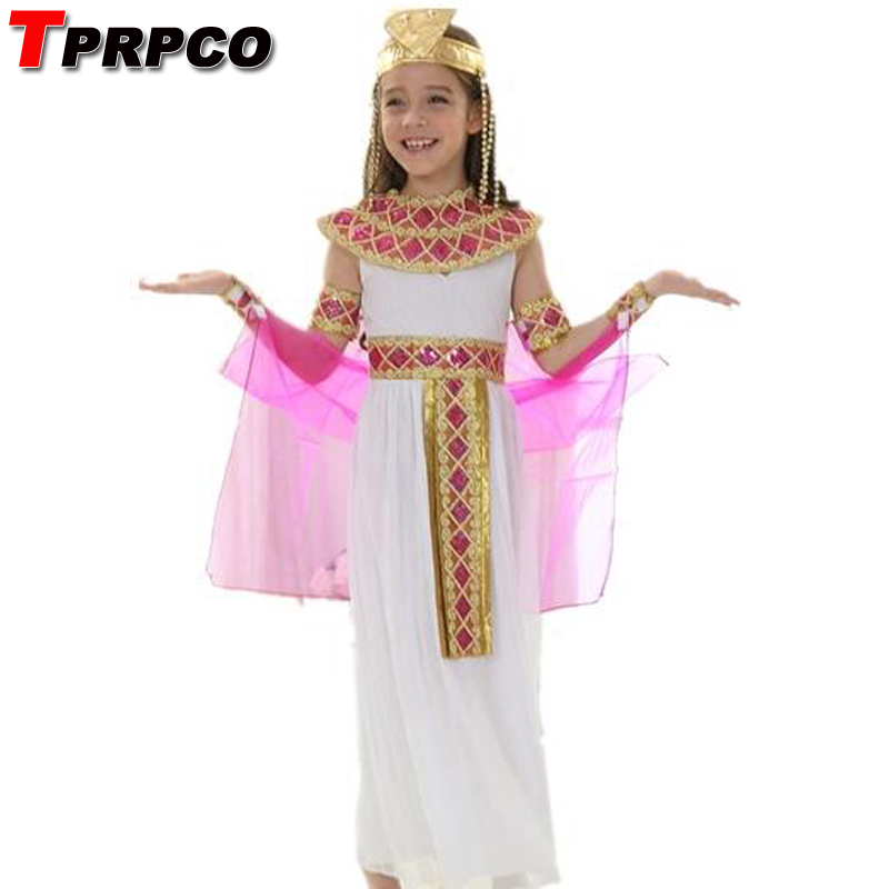 TPRPCO Cute Queen Dress in Cosplay Carnival Party Beautiful Kids Costume Children Cosplay Halloween Party Egypt Princess Dress
