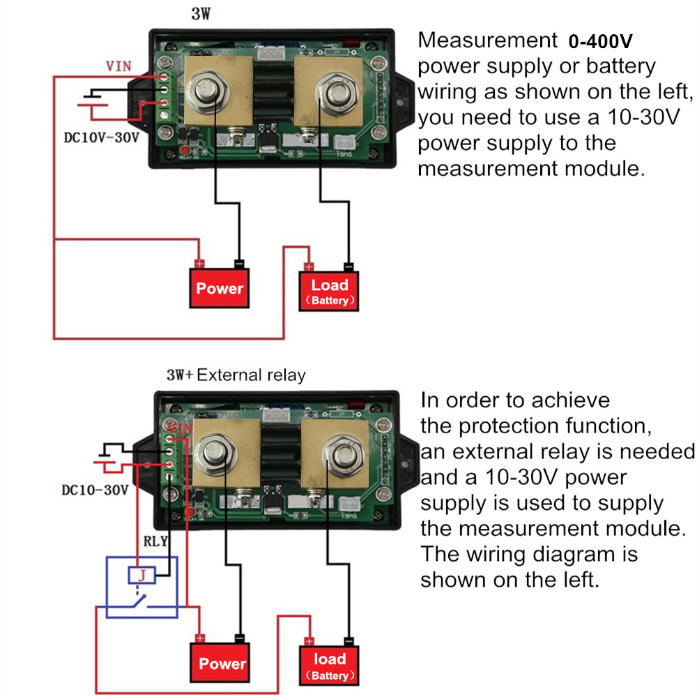 Dc 120v 300a Lcd Combo Meter Wireless Voltmeter Current Kwh Watt Battery Tester Wiring Diagram Capacity Power Monitoring In Voltage Meters From Tools On