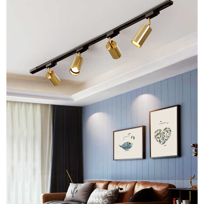 Gold Ceiling Rail Track Lighting Light