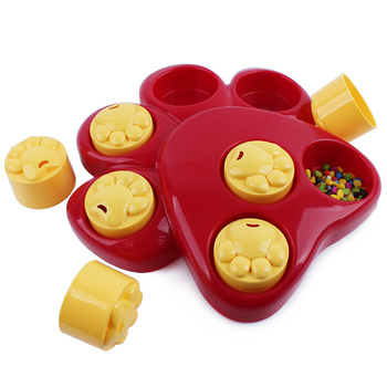 dog Paw Food Dispensing Pet Dog Treat Games Puzzle Food Finding Toy Pet Bowls for dog Puppy Cats food 1