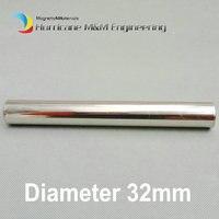 Неодимовый магнитный палочка Dia. 32x500 мм около 1,26 ''х 19,68'' 6 К 12 К GS цилиндр фильтр неодимовым магнит Нержавеющаясталь 304