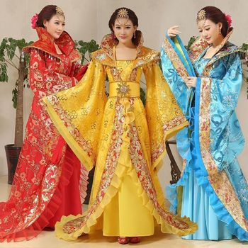 High Quality Chinese Folk CostumeTang Empress Wu Zetian Performance Costume Princess Fairy Queen Outfit Hanfu Clothing
