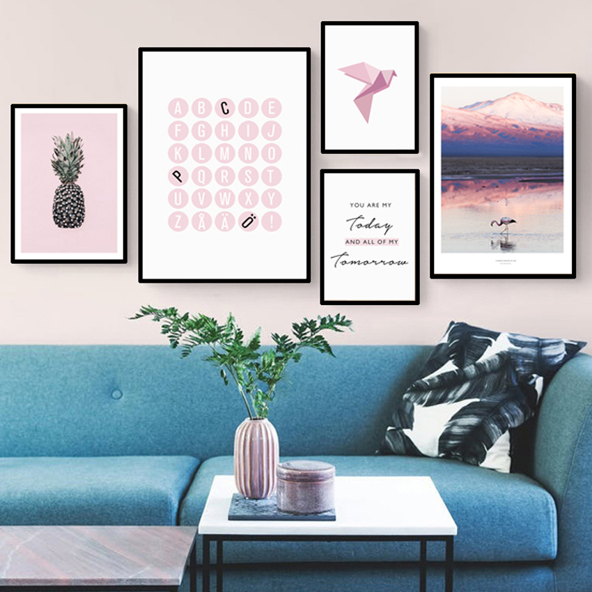 Home Decoration Wallpaper Painting self adhesion painting Nordic PVC Wall Stickers For living Room Furniture Stickers FA715 in Wall Stickers from Home Garden