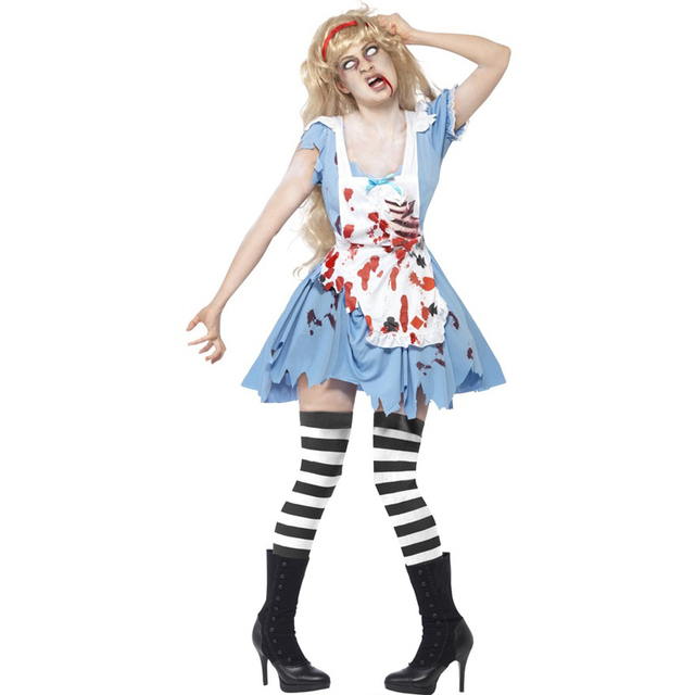 Blood Cook Costumes For Women Scary Halloween Costume M Cosplay Costume  Carnival Costume Zombie Cosplay W5389241 5a75e1d88