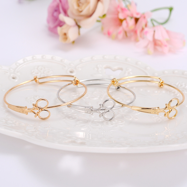 Bangrui Infinity Hairdresser Charm Cuff Cable Wire Bangle Adjule Expandable Bracelets Diy Jewelry Statement