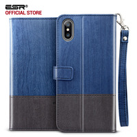 Case For Iphone X 5 8 Inches ESR PU Leather Flip Wallet Cover With Strap Card