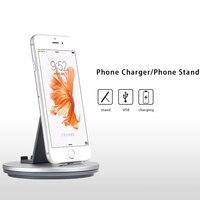 Più nuovo 2 in 1 caricatore del telefono Cellulare Supporto Del Basamento Per iPhone 5 5 s se 7 6 6 s Più Samsung Tablet PC di Base android/IOS ricarica