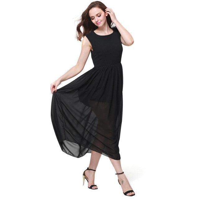 zwart wit maxi jurk