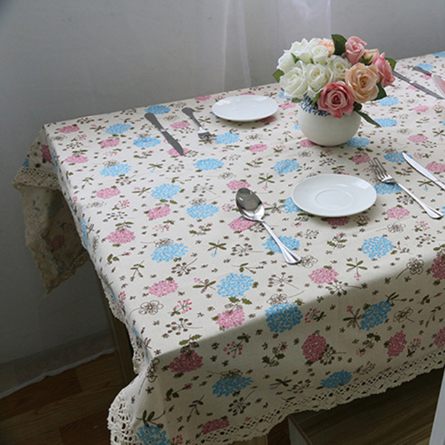 Hyacinth – Decorative Tablecloth – Cotton Linen and Lace
