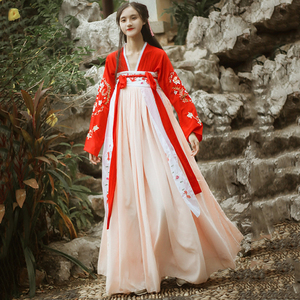 Image 2 - Hanfu Chinese Dance Costume Traditional Stage Outfit For Singers Women Ancient Dress Folk Festival Performance Clothing DC1133