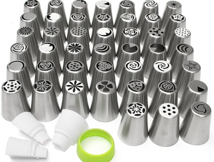 900pcs20sets Stainless steel 45 Russian Tulip Rose Icing Piping Nozzles Tips Cake Decorating Pastry Baking Tool Set Kitchen Set