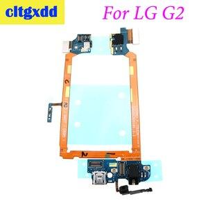 Image 2 - Cltgxdd conector de muelle para LG G2 D802, puerto de carga, cable flexible USB, Conector de auriculares, micrófono, botón de encendido/apagado