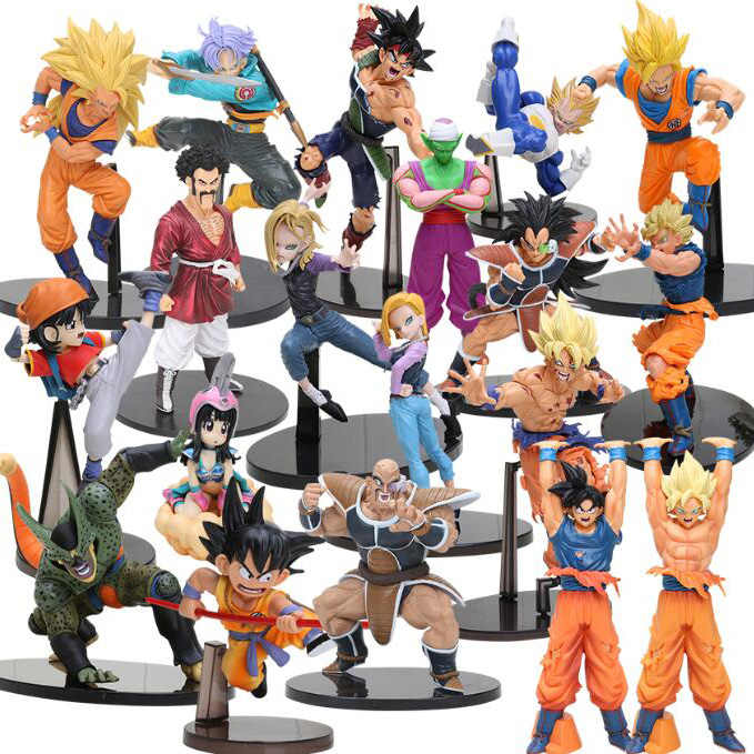 8-30 centímetros Dragon Ball Z SCultures Big Budoukai Series Action Figure Goku Trunks Vegeta Raditz Nappa Lazuli Satanás coleção Modelo