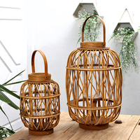 Soft time Chinese classical garden lantern Liu rattan a wooden balcony soft furnishings showroom decoration candlestick