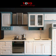 Hot modern Europe style lacquer matte color kitchen cabinet with Blum accessories