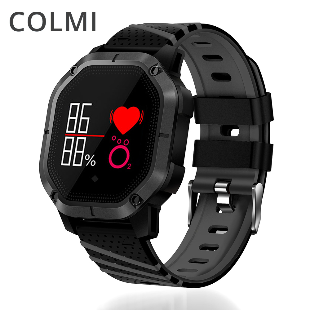COLMI K5 Smart watch IP68 Waterproof Multiple Sports Modes Cycling Swimming Heart Rate Monitor Blood oxygen Blood pressure Clock executive car