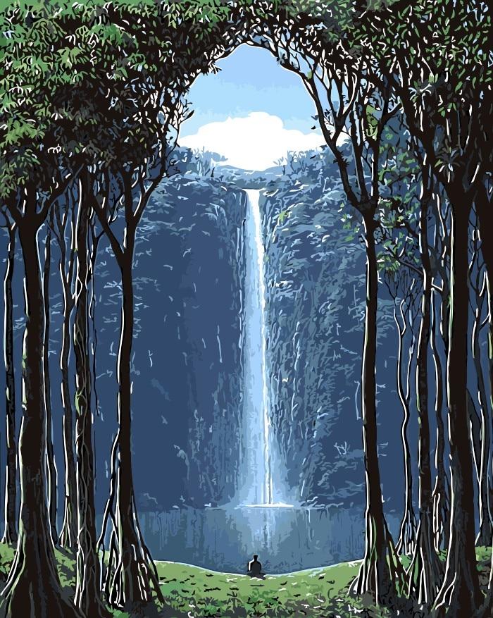Immateriellen landschaft wasser Buddha Home Decor kein rahmen ...