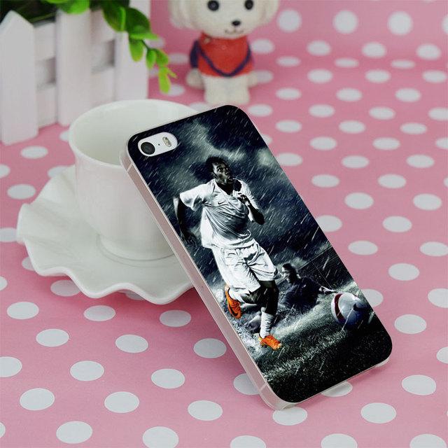 Didier Drogba Rain Run Transparent Hard Thin Case Cover For Apple iPhone 4 4S 5 5S SE 5C 6 6S 6Plus 6s Plus