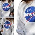 VENDA QUENTE! 2016 NOVA Moda Camisola Mulheres Novas DA NASA Impresso Pullover Camisola Solta Jumper de Baseball Tee Tops