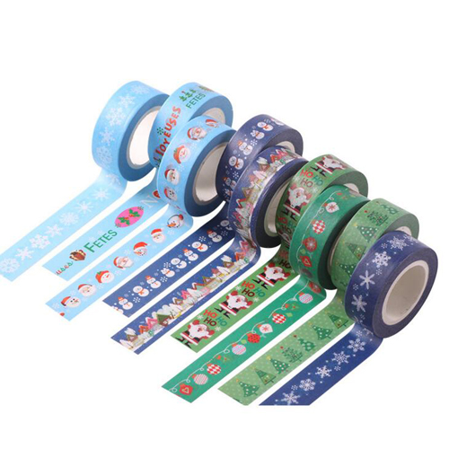 1pc Christmas Series Masking Paper Tapes Cute Decoration Washi Adhesive Tape School Stationery Sticker Party Supplies (tt-3000)