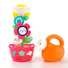 Fill Flow And Spin Flower Bath Toys With Watering Pot For Toddlers Babies Kids 1 2 3 Year Old Boys Girls Bathtub Wall