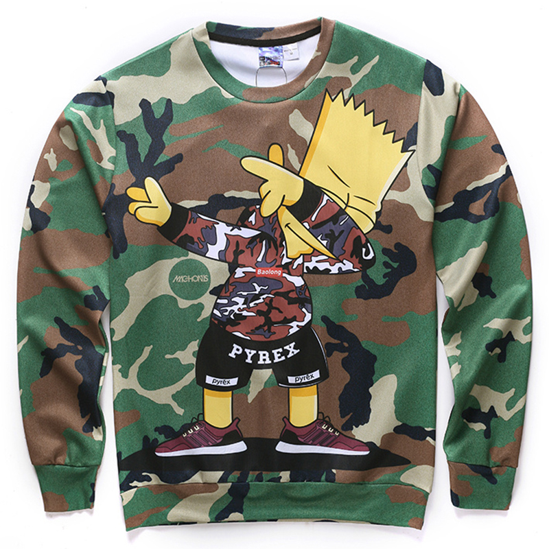 Funny 3D sweatshirts anime print Suicide Squad/Tokyo Ghoul Simpsons novelty long sleeve autumn pullover hoodies for men women