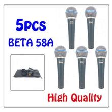 Frete grátis Beta58a Beta 58A 58 Clear Sound Handheld Com Fio Microfone de Karaokê Profissional ETJ