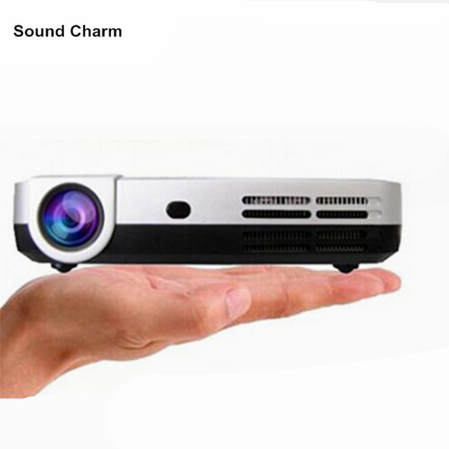 Flash Promo Hot selling !DLP 3Led Micro  Full HD 1080P 200inch big screen shutter 2D to 3D mini pocket  projector Beamer Proyector