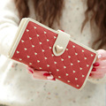Новая мода милый мультфильм любовь пряжки Г-Жа Длинный Кошелек восемьдесят процентов от женский высокого класса ПВХ пакет бумажник карты