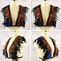 Womens feather bra Iridescent velvet tuxedo Gothic Body Harness Caged Epaulett Bondage Shoulder top gypsy boho festival lingerie