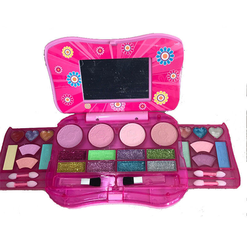 2019 Latest Design Pretend Play Beauty Toy Cosmetics Girls Kids Safe Makeup Toy Cosmetic Toys For Children Eyeshadow Box Palette Box Sets Beauty & Health