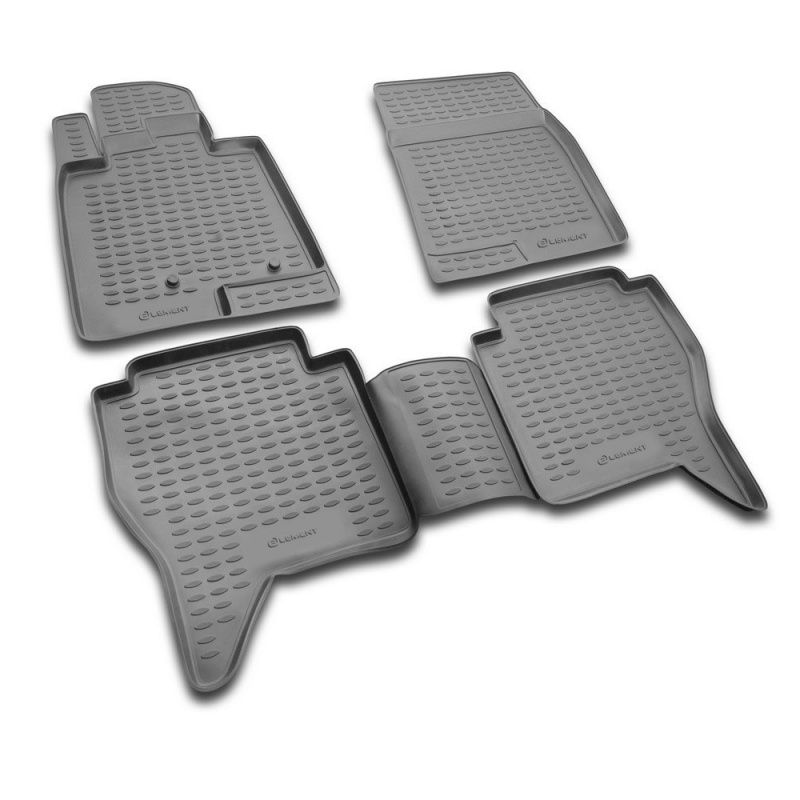 цены на Carpet mats interior For MITSUBISHI Pajero IV (V80) 2006-> 4 PCs (polyurethane)  в интернет-магазинах