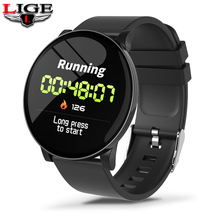 LIGE New Man Smart Sports Bracelet Women Waterproof Fitness Watch Blood Pressure Heart Rate Monitor For Android iOS