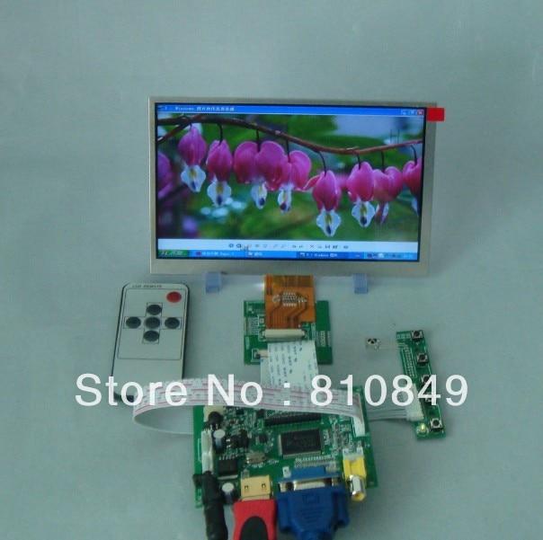 HDMI VGA 2AV LCD Controller Board+7 AT070TNA2 1024x600 LCD Screen hdmi dvi vga control board 8 9inch n089l6 1024 600 lcd panel touch screen n089l6 l02 hsd089ifw1 b089aw01 v3 ltn089nt01