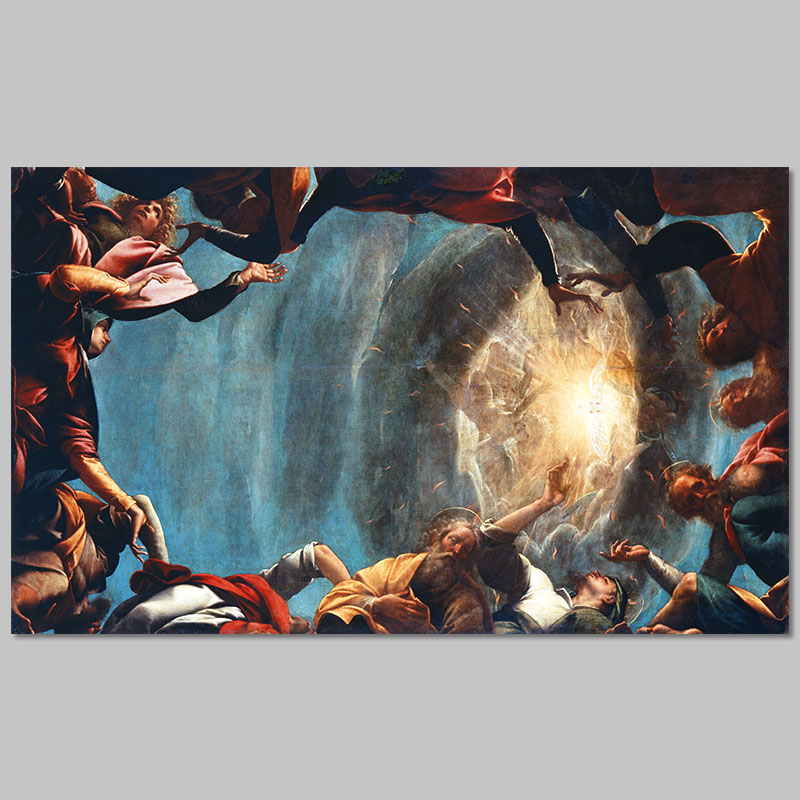 Big Size Retro European Style Christian Pentecost Pictures Decoration Canvas Painting Wall Art For Living Room Printed Unframed