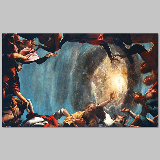 Tamaño grande estilo europeo retro cristiana Pentecostés cuadros ...