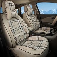Full Set Car Seats Custom Fit For Ford Edge 2011 2012 Cars Accessories Beige Seat Covers
