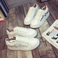 A nova edição 2016 han sapato branco mulheres com letras grandes sapatos de plataforma base de sapatos casuais sapatos da moda